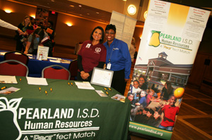 Pearland ISD Representatives at the HATC Job Fair