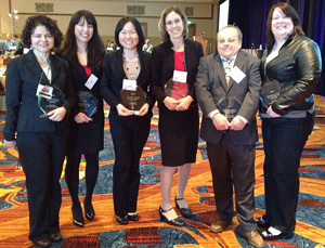 Wong with fellow authors ath the NARST Awards Luncheon